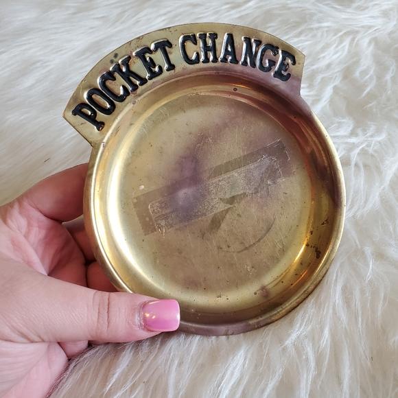 Vintage Brass Pocket Change Catch-All Plate